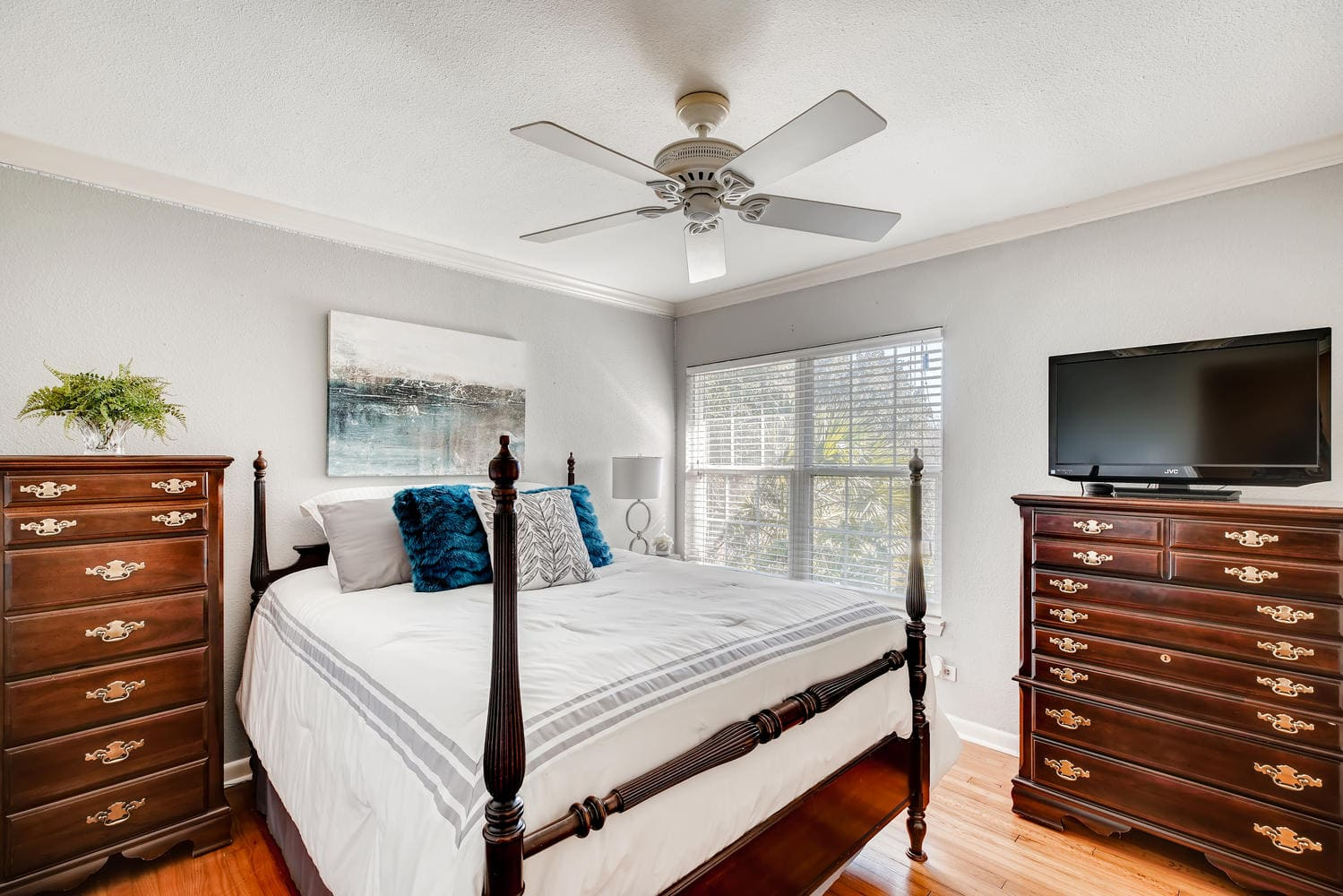 Full home staging in Las Vegas, Nevada, featuring a guest bedroom