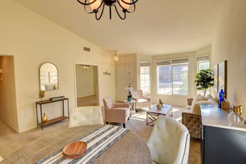 Foothills South Home Staged by Utopia Home Staging Vegas in Henderson Nevada