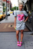 Blogger Monique Chante of The Blonde Historian is all about pink and patterns. @mo_manayy