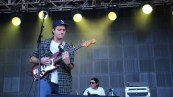 Mac nonchalantly lets his guitar talents play out on Saturday at the RetailMeNot stage.