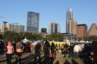 The view of Austin's skyline on Saturday afternoon.