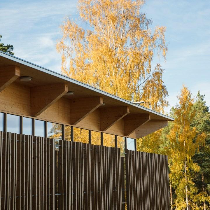 Hegnhuset om høsten.
