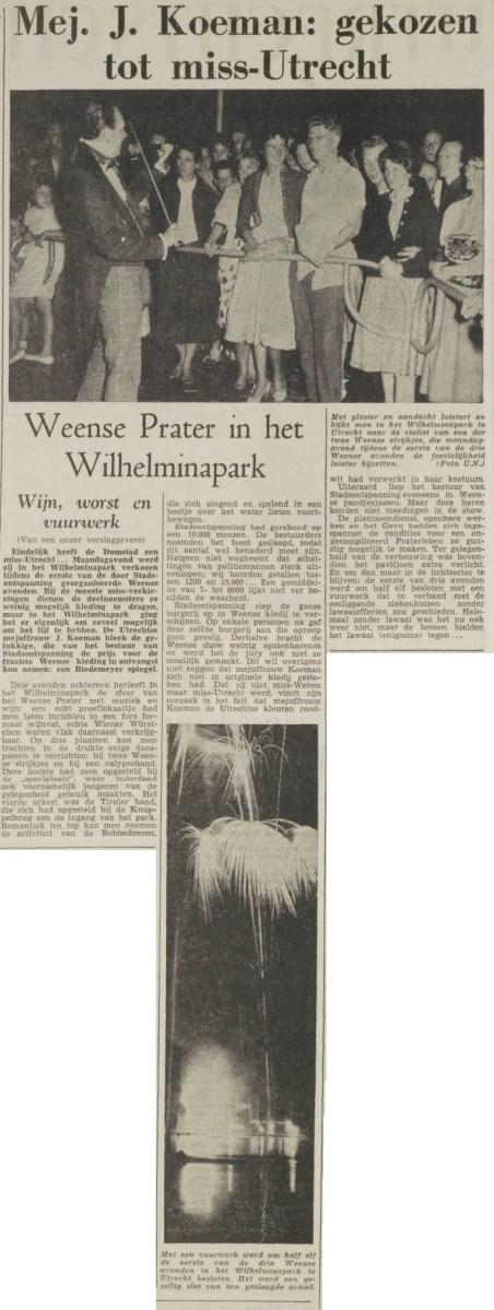 [gallery] De eerste Miss Utrecht heet Mej. J. Koem…