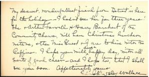 Letter laid in, verso. Feelings and Things : Verses of Childhood (1916) by Edna Kingsley Wallace.