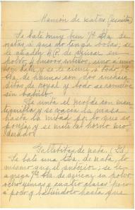 Recipe laid in. Manual de Cocina : Recetas (1905) by María Isla.