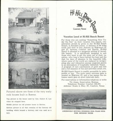 Boerne, Key to the Hills: Boerne Centennial Invites You (1949). UTSA Libraries Special Collections.