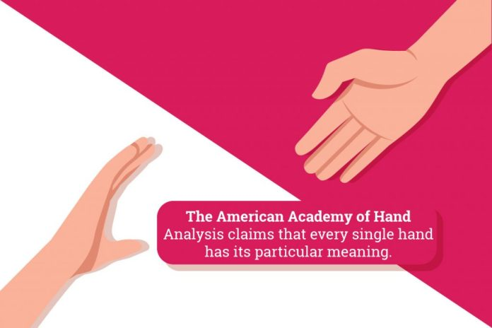 Each hand has a particular meaning