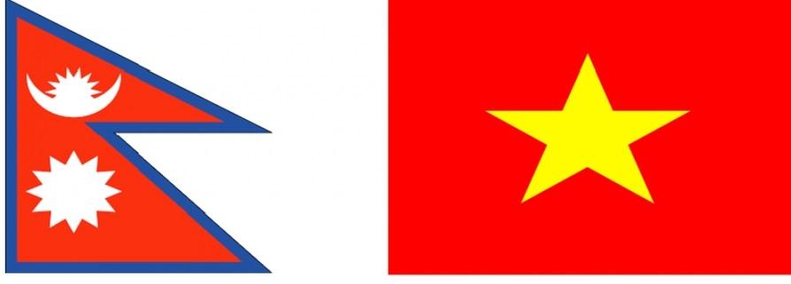 Image of Nepal & Vietnam flags