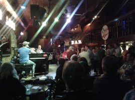 Pete's Dueling Piano Bar on East 6th St. Great rowdy crowd on a Wednesday night.