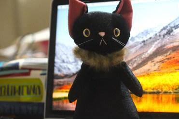 ナルシス(黒ネコ)のぬいぐるみ