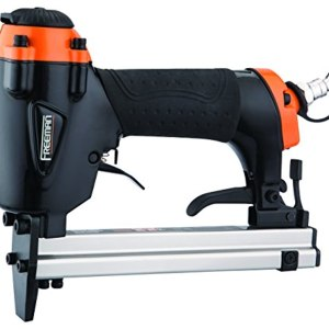 """Freeman P2238US Pneumatic 22-Gauge 5/8"""" Upholstery Stapler Ergonomic and Lightweight Nail Gun with Extension Nose and Safety Trigger for Upholstery, Cabinets, Fabric, and Screens"""