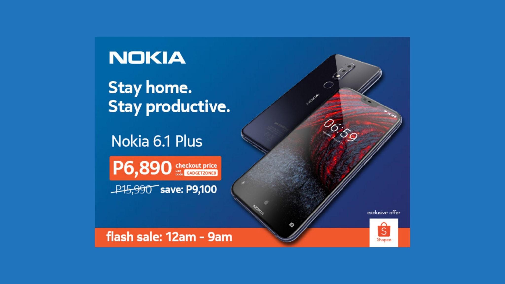 Nokia 6.1 Plus Shopee Flash Sale Header