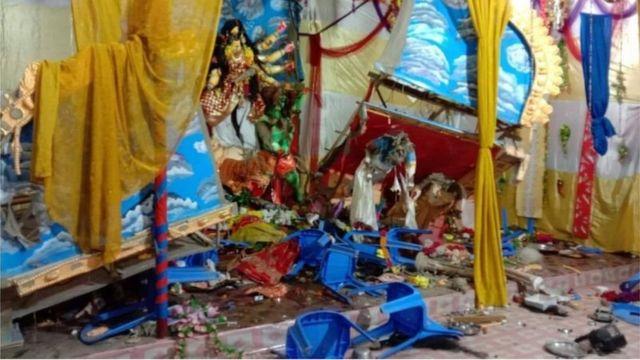 নোয়াখালীতে পূজামণ্ডপে হামলা-ভাংচুর, ১৪৪ ধারা