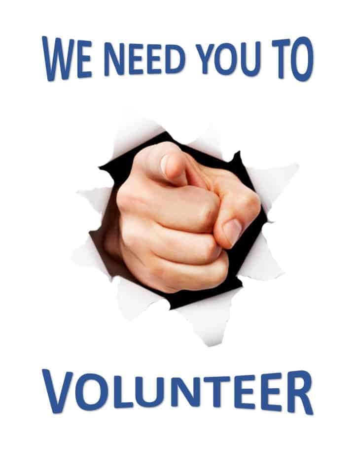 We Need You to Volunteer