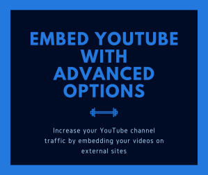 embed youtube video with options