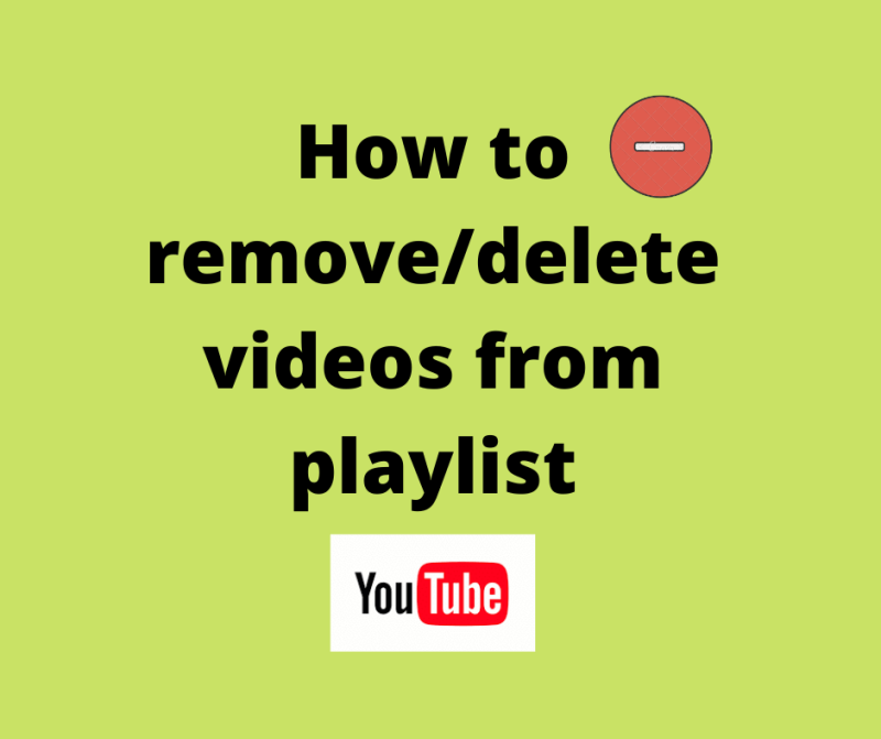 How to remove video from youtube playlist