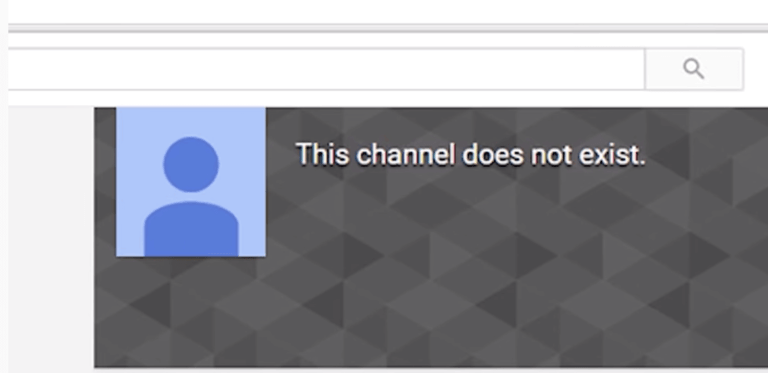 youtube channel not exist