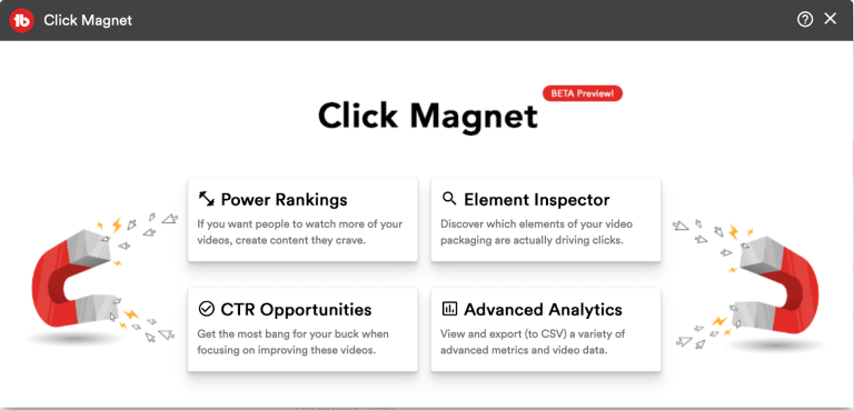 tubebuddy click magnet features