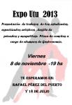 Muestra anual de trabajos Escuela Técnica de Maldonado - Expo UTU 2013