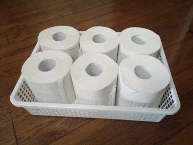 トイレットペーパー収納カゴ01