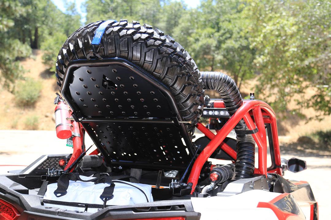 assault industries spare tire rack