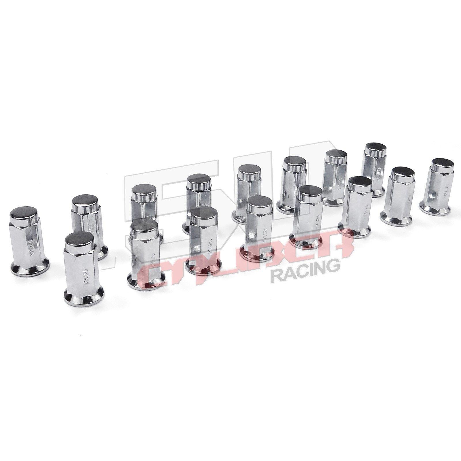 Flat Lug Nut 3 8 X 24 Stud Chrome Polaris Rzr 570 800