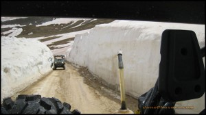 20ft Snow Drift after the pass has been plowed