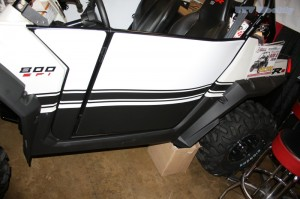 2010 Polaris RZR S Doors with Matching Graphics