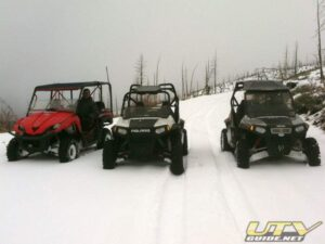 UTVs in the snow