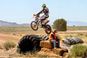 Skyler Howes airing it out on the Endurocross tires