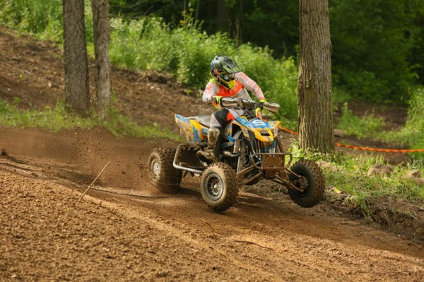 Josh Creamer (BCS Performance / Can-Am / ITP) ended up fourth overall in the Pro class at round six of the 2014 Mtn. ATV MX National Championship Series held at Spring Creek MX in Minnesota.