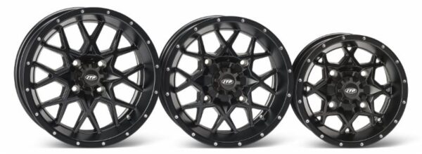 "ITP will initially offer the Hurricane wheel in three size variations (15"", 14"" and 12"") for both UTV and utility ATV applications."