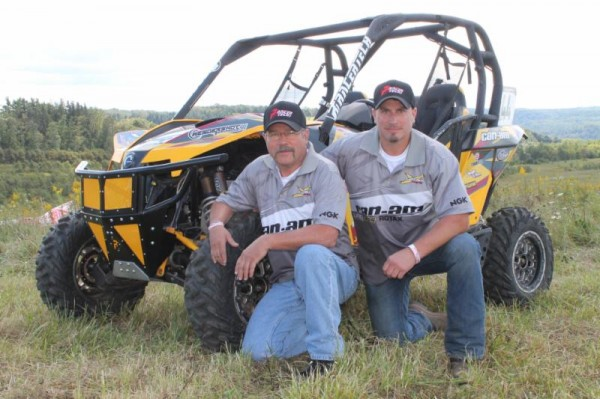 Larry Hendershot Sr., and Larry Hendershot Jr., teamed to take the Hendershot Performance / Can-Am Maverick to both the AWRCS and WEXCR UTV class championships in 2014. (Photo supplied by Hendershot Performance / Can-Am)