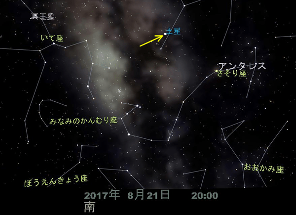 土星の位置