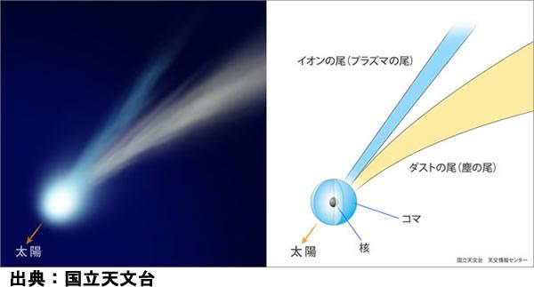彗星の尾と構造
