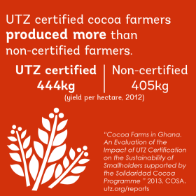 Impact on better crop in the cocoa sector in Ghana