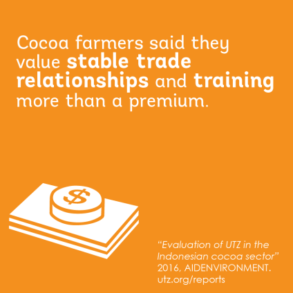 Impact on better income in the cocoa sector in indonesia