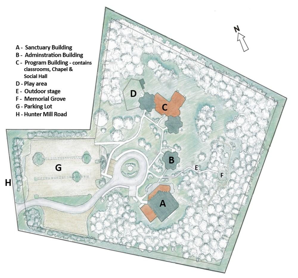 UUCF Campus map