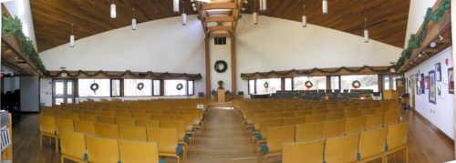 Interior Sanctuary facing the pulpit