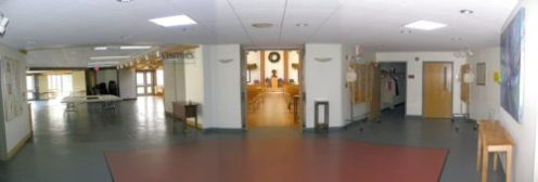 Fellowship area in Sanctuary Building