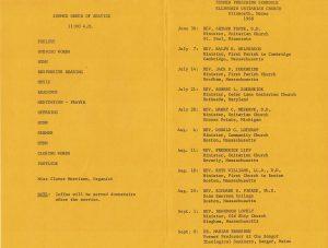 1968 Summer Preaching Schedule 2