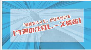 競馬WAVEの今週の注目レース情報画像
