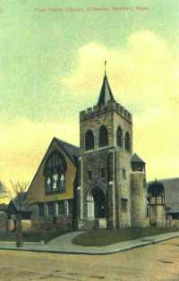 First Parish postcard