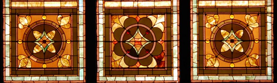 Benker Hall stained glass windows