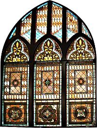 Benker Hall stained glass window