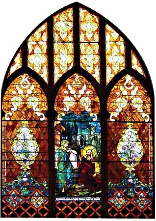 Sanctuary stained glass window
