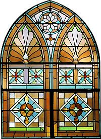 Sanctuary side wall stained glass window