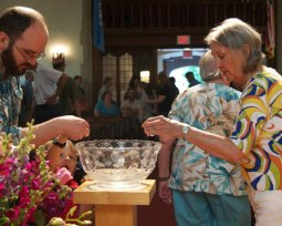 Water Communion our in-gathering service in the fall