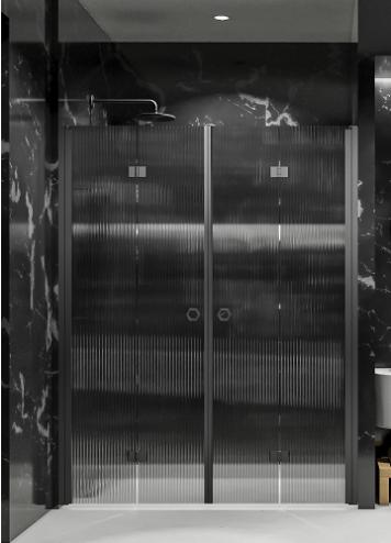 Hietakari - Sandriff Forma325 Tilanjakaja taittuvilla pariovilla musta runko