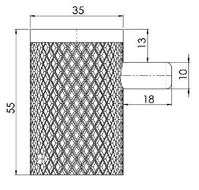 Hietakari-Sandriff Mesh Pyyhekoukku mittakuva